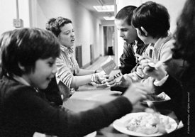 #75044  Meals were cooked on site, Liverpool Free School, Liverpool  1971.  Also known as the Scotland Road or Scottie Road F...