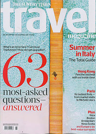 Cover Sunday Times Travel Magazine Jun 19