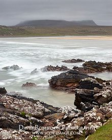 Image - Achnahaird beach in stormy weather, Coigach, Wester Ross, Highland, Scotland.