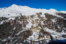 St. Moritz and the Engadine Valley by Air.