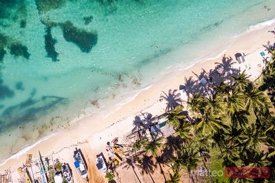 Aerial view of Ilig Iligan beach, Boracay island