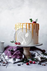 Mince Pie And Almond Layer Cake With Brandy Buttercream