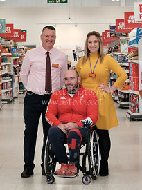 Sainsbury's Store with Paralympic archer Nathan McQueen, Livingston, Scotland, Thursday 26th September 2019