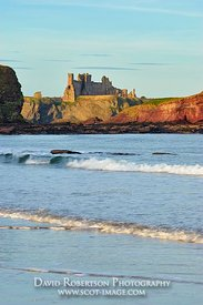 Image - Tantallon Castle, North Berwick, East Lothian, Scotland.  View from Seacliff beach