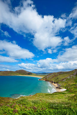 Ocean coast  - Europe, Ireland, Donegal, Rosguill, Doagh, Tranarossan Bay - digital