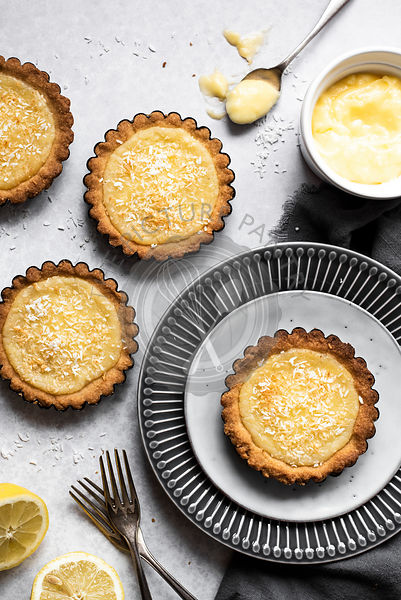 Lemon And Coconut Tartlets