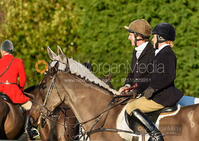 Dominic Gwyn-Jones at the meet. The Quorn Hunt at Fox Covert Farm 10/1