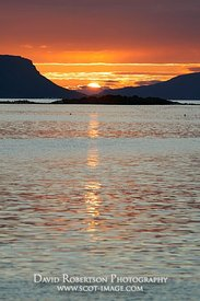 Image - Sunset between Rum and Eigg from near Arisaig, Morar