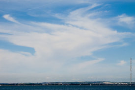 #061925,  High cirrus clouds above the Isle of Wight, Hampshire.