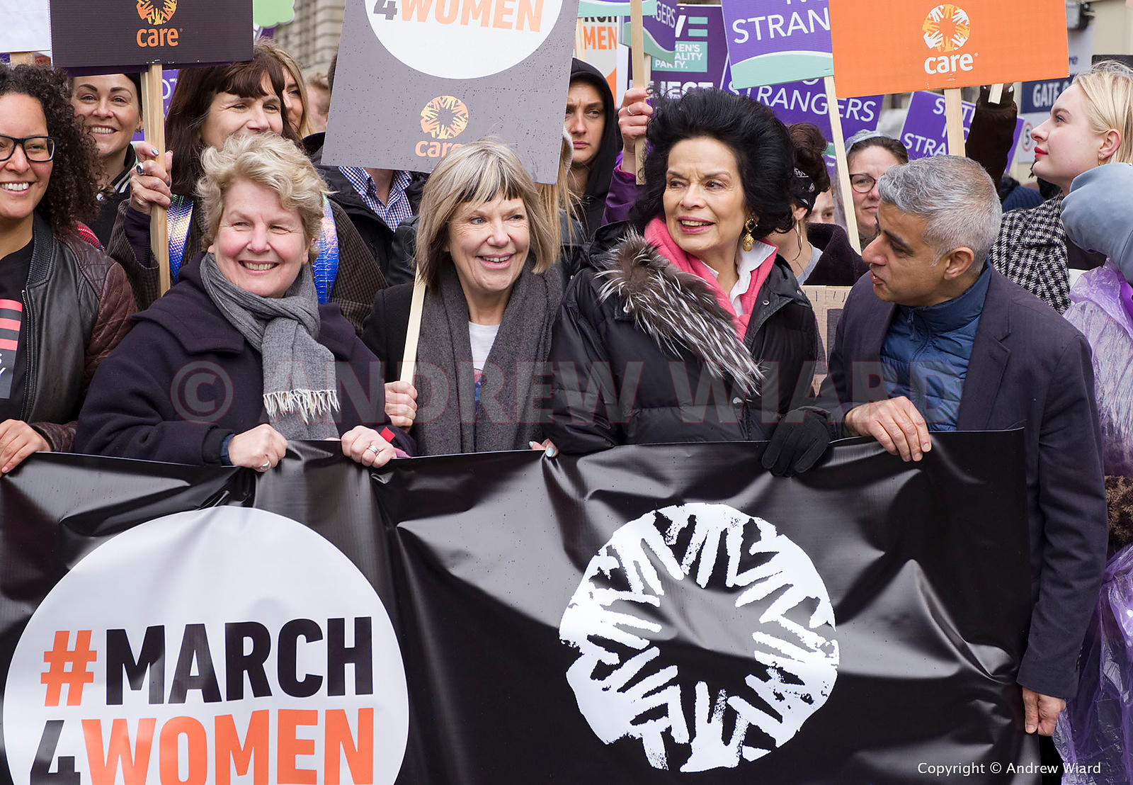 England, UK 8.3.2020. London. International Women's Day. March4Women. Copyright © 2020 Andrew Wiard.