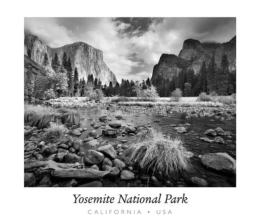 Yosemite Valley, California, USA (with text) - BP0851BW2