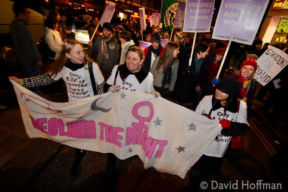071124_ReclaimNight_203 Feminist organised 'Reclaim The Night' march and rally. London 24 November 2007.