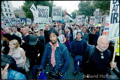 Peace march, London.5 Jan 2002
