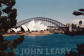 Sydney Opera House and the Sydney Harbour Bridge.