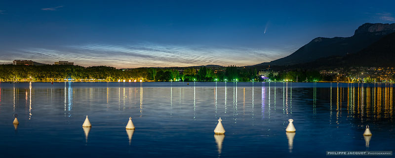 July 8, 2020 - Comet and noctilucent clouds - Annecy