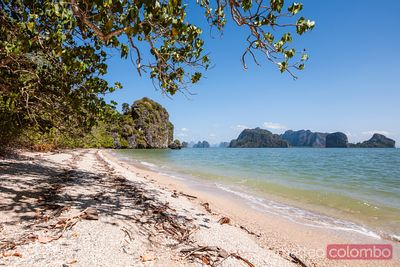 Deserted tropical beach, Phang Nga bay, Thailand