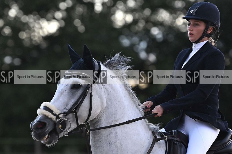 Stapleford Abbotts. United Kingdom. 05 August 2020. Class 9. Wednesday night unaffiliated showjumping. MANDATORY Credit Garry...