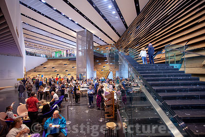 The grand foyer of the new V&A Museum in Dundee