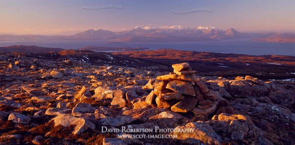 Image - Panoramic view from Bealach na Ba towards the Isle of Skye