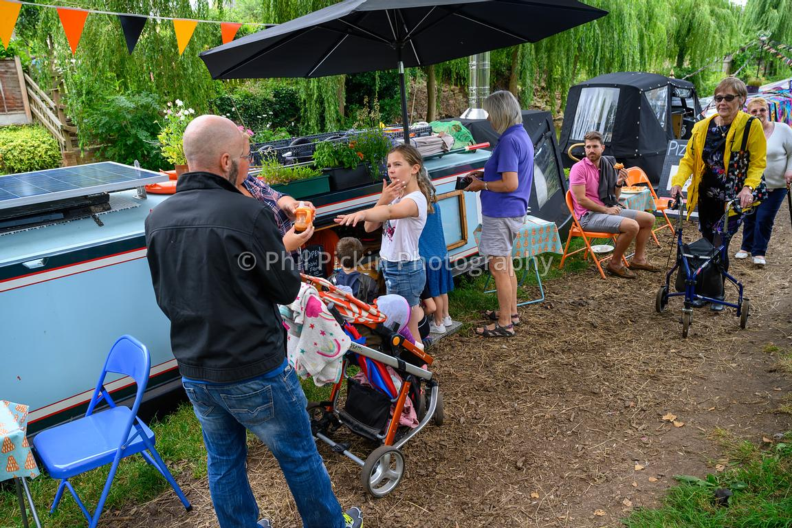 Visitors enjoy the first Gnosall Canal Festival.