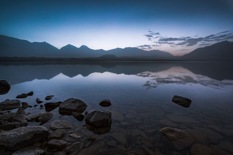 Lake Karakul at sunrise, Xinjiang, China