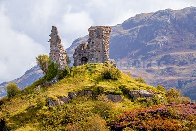 The ruins of Castle Moil near  Kyleakin on the Isle of Skye