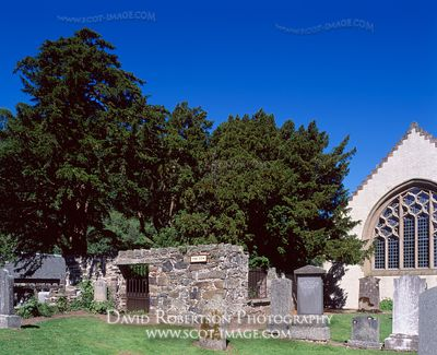 Image - Fortingall Yew Tree and church, Perthshire, Scotland