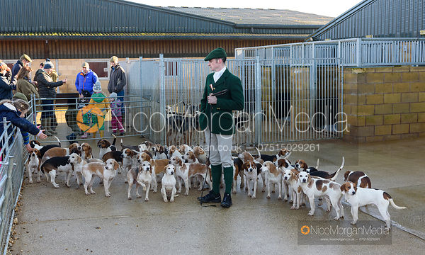 The Oakley Foot Beagles Meet at the Cottesmore Kennels 30/12