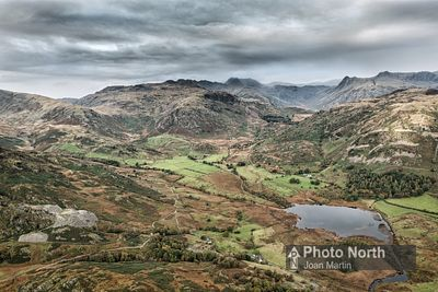LANGDALE 01A - Aerial view of Little Langdale Tarn