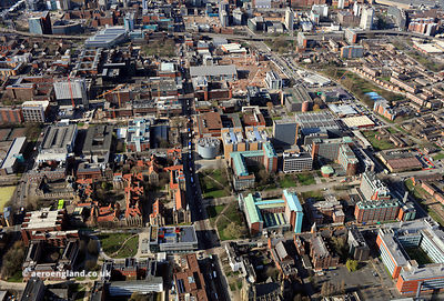 Manchester University  aerial photograph