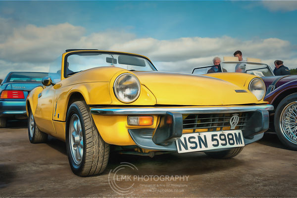 Yellow Triumph Spitfire