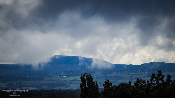 Storm Clouds and Rain assail Moel Famau