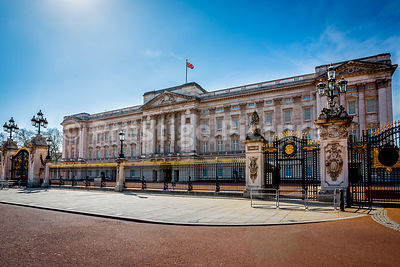 Buckingham Palace on a sunny afternoon with NO spectators