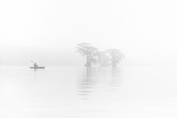 Misty Haze on the Cypress Lake