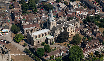Rochester Cathedral aerial photograph