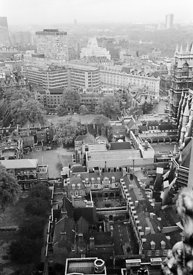 #124531,  View from the Victoria Tower, Houses of Parliament, 1973.