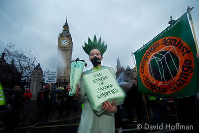 The London march of the International Climate Protest March. 8 Dec 2007