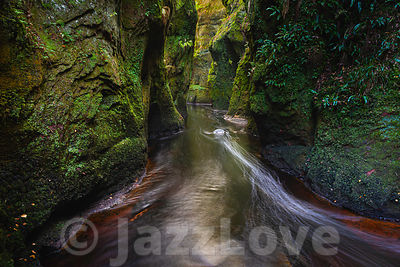 Devil's pulpit in Finnich glen near Glasgow, Scotland, UK.