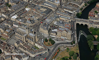Bath city centre Somerset  from the air