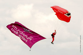 #052286,  British Army's Red Devils display team from the Parachute Regiment at the Farnborough International Airshow  2009.