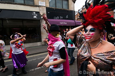 Masked Parade of sex workers & supporters thanking the community for helping to keep women safe