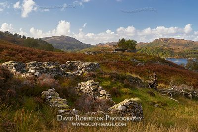 Prints & Stock Image - Deserted and ruined village of Briaig, Moidart, Lochaber, Highland, Scotland.  On the Silver Walk.