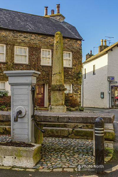 CARTMEL 06A - The Market Cross, Fish Stones and Pump