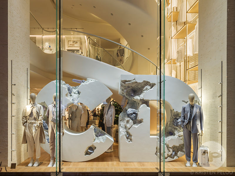 Retail architecture photographer Paris - DIOR STORE CHAMPS ELYSEE PARIS