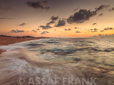 Sea at dusk, Israel