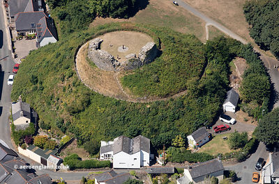 Plympton Castle  from the air