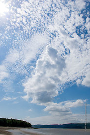 #73827,  Cirrocumulus clouds over the Arnside, Lancashire, UK.