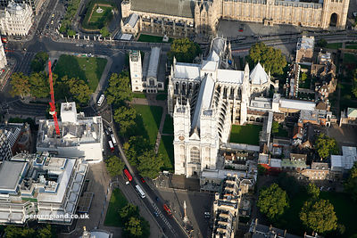 Westminster Abbey from the air