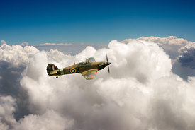 Hurricane above clouds