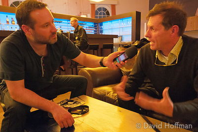 "Grant Smith, architectural photographer (right) being interviewed by Christian (Documentally) about the ""I'm A Photographer N..."
